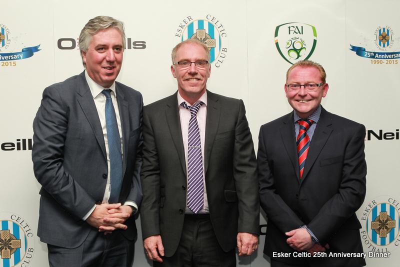 John Delaney (FAI CEO) Paul Cleary (Esker Chairman), Colm Young (Esker Vice Chairman)